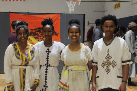 Senior friends representing Ethiopia together